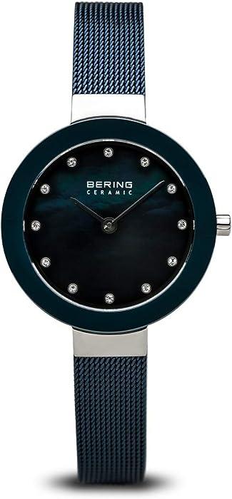 BERING Reloj Analógico para Mujer de Cuarzo con Correa en Acero Inoxidable 11429-387