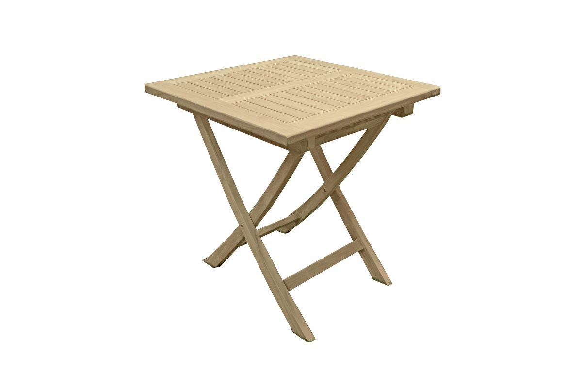 quadratischer gartentisch s1 aus unbehandeltem teak holztisch esstisch kaffeetisch balkontisch. Black Bedroom Furniture Sets. Home Design Ideas