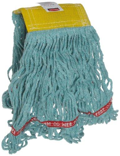 Rubbermaid Commercial FGA15106GR00 Web Foot Mop Head, 5-inch Headband, Small, Green