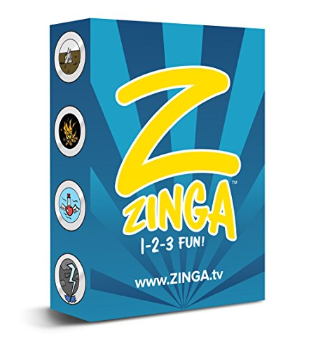 Zinga Cards | Card Game For Kids ages 3 and up | Great Birthday Gift, Goody Bags, Travel Game for Kids | Family Fun for $<!--$9.99-->