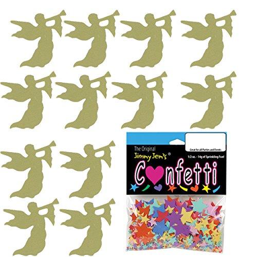Confetti Horn - Confetti Angel w/ Horn Gold - 2 Half Oz Pouches (1 oz) FREE SHIPPING --- (CCP8971)
