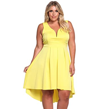 Rosianna Womens Plus Size Dresses Sweet Heart Neck Sleeveless A