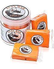 MATCC Barra de Arcilla Coche Car Clay Bar Magic 3 Paquetes de 100g de Limpiador Premium de Arcilla con Capacidad de Lavado y Adsorción para Limpiar Automóviles Vehículos Recreativos Barcos y Autobuses