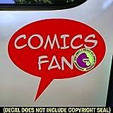 COMICS FAN Zine Club Comic Book Vinyl Decal Sticker D