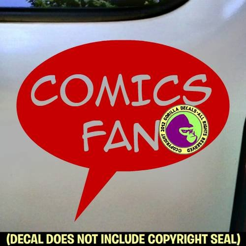 COMICS FAN Zine Club Comic Book Vinyl Decal Sticker D