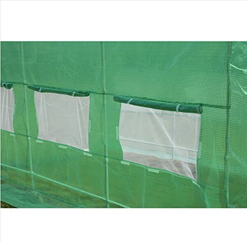 Quictent 16 Stakes KOREA Reinforced PE Cover Greenhouse 15'x7'x7' Arch LARGE Walk in Green Garden Hot House for Plants by Quictent (Image #4)