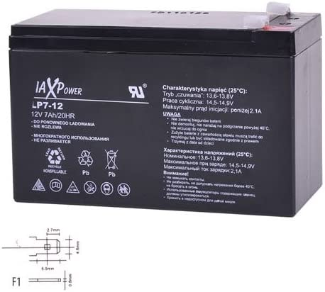 Max Power 6-fm-12/ Batterie Gel de remplacement batterie AGM 12/ V 7,5/ Ah