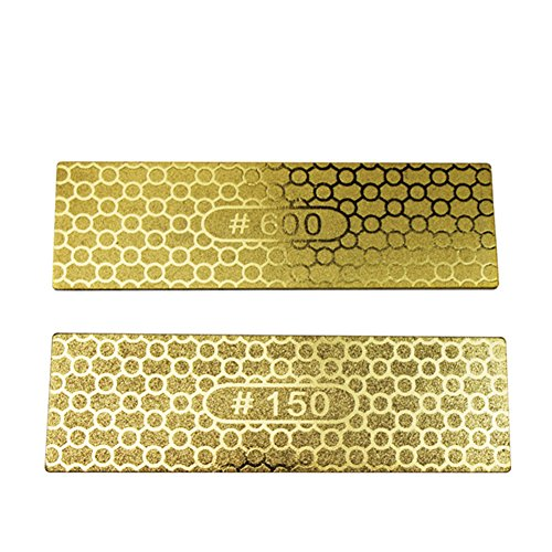 Zehui Knife Sharpener Kitchen Gold Color Mesh Honeycomb Knife Sharpener Corundum Whetstone Lightweight Plate Grindstone 150/600#