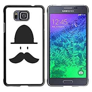 - Mustache Mania - - Hard Plastic Protective Aluminum Back Case Skin Cover FOR Samsung GALAXY ALPHA G850 SM-G850F G850Y G850M Queen Pattern