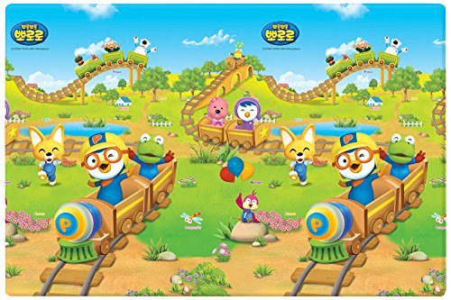 LG Prime Play Mat Pororo Train 130x190x1.1 | HD880021 by LG