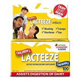 2 Pack: Lacteeze Childrens 200 chewable tablets