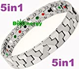 Titanium Magnetic Energy Germanium Armband Power Bracelet Health Bio 5in1 Bio 307