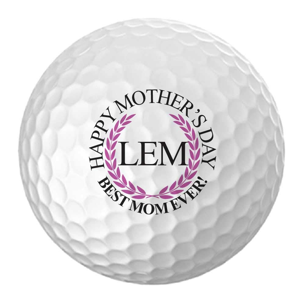 Mother's Day Best Mom Ever! Design Golf Balls - Personalize The Initials (12 Balls)