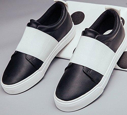 Casual Moda Zapatos Mujer Lona Chicas Ocio Del Holgazán Zapatos Minetom Estudiantes Blanco Plataforma wf0n1q66a