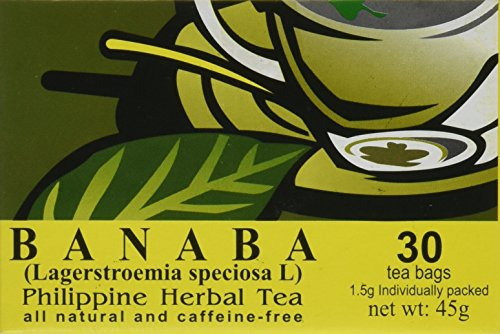BANABA Philippine Herbal Tea (30 Tea Bags) by Namica (Extract Leaf Banaba)