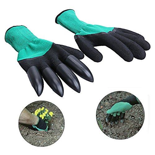 Bulb Planter Tulip Transplanter Depth Marks Bundle Includes: Garden Claw Gloves Padded Kneeler by Cardinal Home (Image #3)
