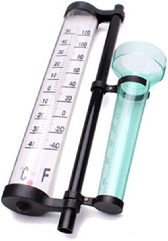 Hemoton Rain Gauge with Garden Stake Weather Station Rain Gauge Wind Direction Meter for Garden Outdoor Yard Meteorology Instrument