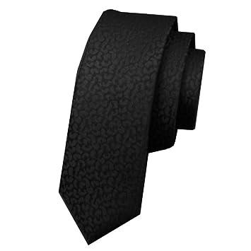 Sumferkyh Maulbeerseide Krawatten Schmale Ausgabe Schwarze Muster