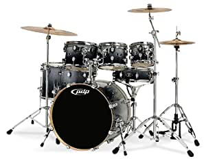 Pacific Drums DW X7 Shell Pack, Maple, Silver to Black Fade