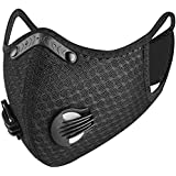 FACE GUARD Dust Breathing Mask, Anti Pollution, Activated Carbon, Dustproof Mask with a Carbon Filter, for Pollen Allergy, Woodworking, Mowing, Running, Cycling, Outdoor Activities [Black]