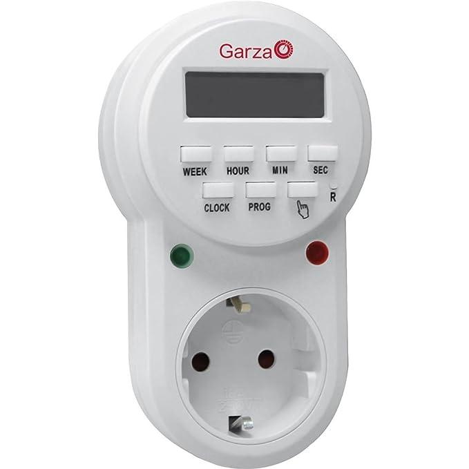 Garza Power - Temporizador-programador digital MINI, 16 programas, 24 horas: Amazon.es: Bricolaje y herramientas