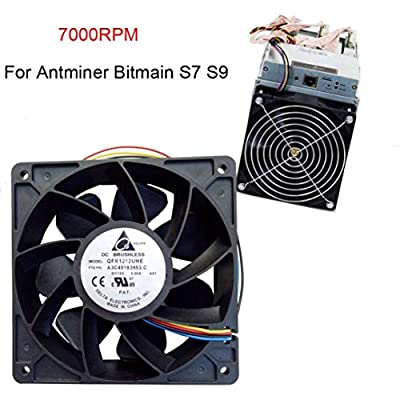 Mchoice 7000RPM Cooling Fan Replacement 4-Pin Connector For Antminer Bitmain S7 S9