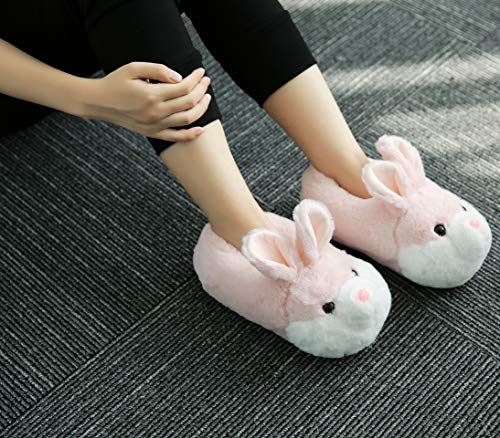 Donna Coniglio Pantofole Rosa Grigio YGJT Pantofole Scarpe Unisex Imbottiti Bambina Invernali Rosa Scarpe S1Owx65Oq