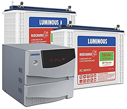 Luminous Cruze 2KVA Inverter with RC 18000 Battery (2 Batteries)