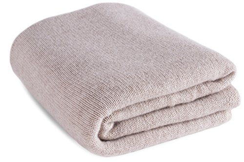 Large 100% Cashmere Bed Blanket Throw - Light Natural - Made to Order - made in Scotland by Love Cashmere