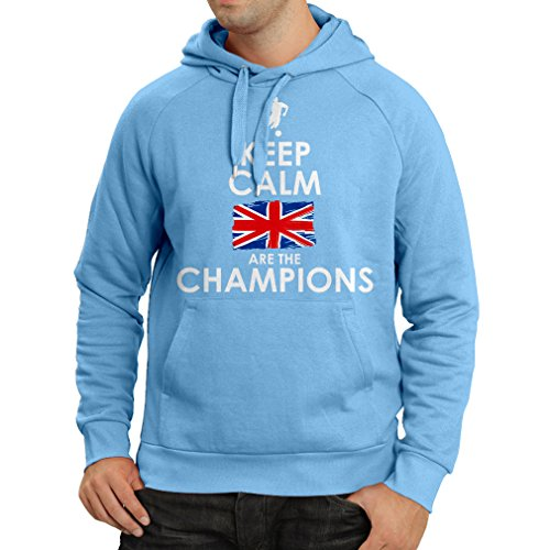 fan products of N4507H Hoodie North Irish are the champions ! (Medium Blue Multicolor)