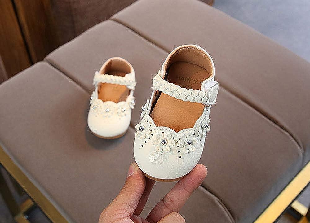 Huhu833 Babyschuhe Kleinkind Baby M/ädchen Kinder Schuhe Blume Leder Einzelne Schuhe Weiche Sohle Prinzessin Schuhe