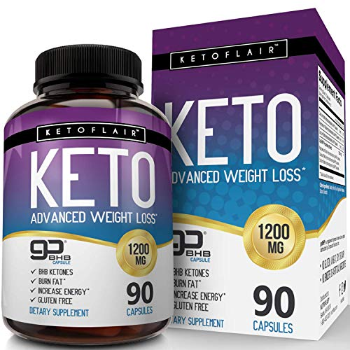 Best Keto Diet Pills GoBHB 1200mg, 90 Capsules Advanced Weight Loss Ketosis Supplement - Natural BHB Salts (beta hydroxybutyrate) Ketogenic Fat Burner, Carb Blocker, Non-GMO - Best Weight Loss Support (Best Pills To Lose Weight 2019)