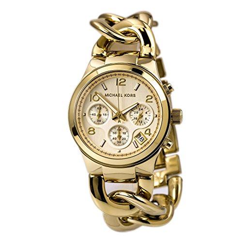 Michael Kors Women's Runway Twist Watch, Gold, One Size Gold Oval Wrist Watch
