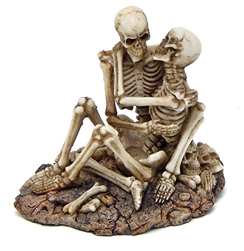 [Skeleton Lovers Skulls Sexy Statues Adult Ceremony] (Sexy Halloween Decorations)