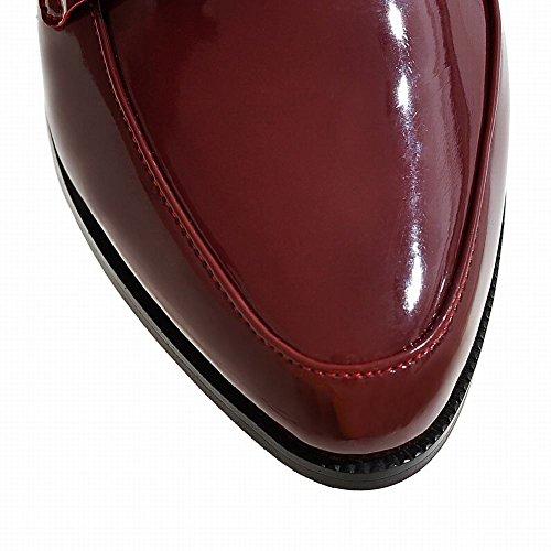 Mee Shoes Damen Niedrig Geschlossen Lackleder Pumps Rot