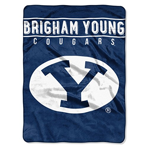 - The Northwest Company Officially Licensed NCAA Brigham Young Cougars Basic Raschel Throw Blanket, 60