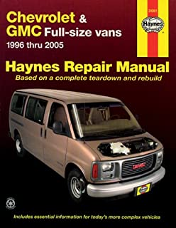 chevrolet gmc full size vans 1996 2010 haynes repair manual rh amazon com 1998 Chevrolet Savana 1998 Chevrolet Metro