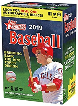 Topps 2019 Heritage Baseball Blaster Box 8 Packs9 Cards