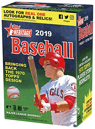 Topps 2019 Heritage Baseball Blaster Box (8 Packs/9 Cards) ()
