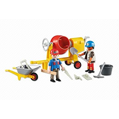 PLAYMOBIL Add-On Series - 2 Construction Workers: Toys & Games