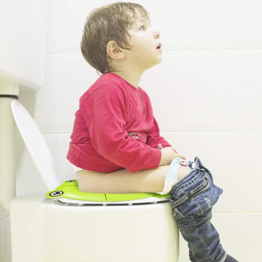 Sitzpolster mit 4 rutschfesten Silikon-Pads und 1 Tragetasche zur Vermeidung von Keimen Toilettentraining Girlslove talk 26,9 x 33,8 cm Faltbarer Reise-T/öpfchen Toilettensitz f/ür Kleinkinder