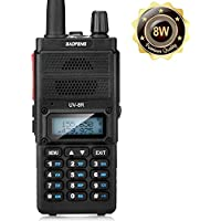 Two Way Radio, Baofeng UV-8R (Upgraded UV-5R) 8-Watt Ham Radio Transceiver Walkie Talkies Dual Band (136-174MHz VHF & 400-520MHz UHF), VOX Function with Earpiece, Extended Antenna & 2000mah Battery