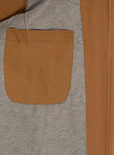 Piumino Con Dry Gilet Giubotto solid Cappuccio Cinnamon 1x0vqWTZ