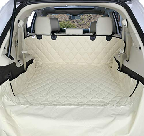 (4Knines SUV Cargo Liner for Dogs - Tan Large - USA Based Company)