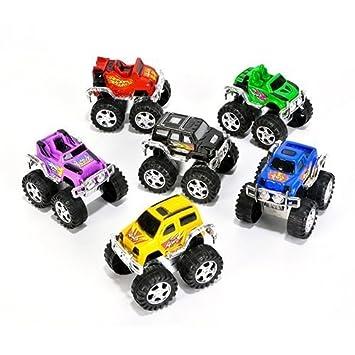Amazon Com Small Toys Monster Pullback Trucks Pack Of