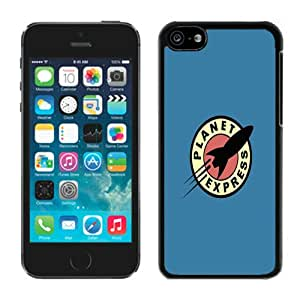 Hot Sale iPhone 5C Case ,Unique And Lovely Designed Futurama Planet Express Cover Case For iPhone 5c Black Phone Case CR-235