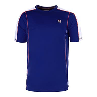 9c7ba1b2a39 Amazon.com: Fila Heritage Crew Tennis T-Shirt - SS19: Clothing
