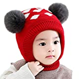 74c80e841ac Bonvince Baby Girls Boys Winter Warm Hat Beanies Caps Cute Thick Earflap  Hood Hat Scarves Skull Caps Red