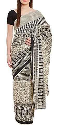 Women's Indian Warli Print Art Saree Cotton Set of 3 Sari Blouse Petticoat Skirt,W-CSR0338-5004 by ShalinIndia