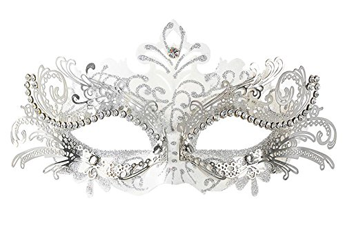 DeemoShop Metal Laser-cut Crystals Ball Prom Princess Venetian